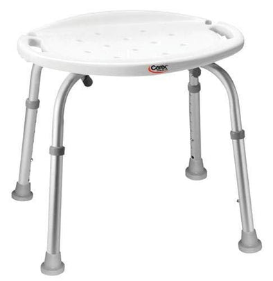 Carex Adjustable Bath and Shower Seat – Height Adjustable Shower Stool - Senior.com Bath Stool