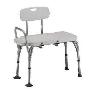 Nova Medical Deluxe Transfer Bench with Removable Back - Senior.com Transfer Equipment