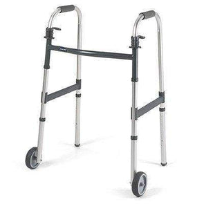 "Invacare Dual Release Paddle Walker with 5"" Fixed Wheels 6291-5F"