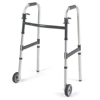 "Invacare Dual Release Paddle Walker with 5"" Fixed Wheels - Senior.com walkers"