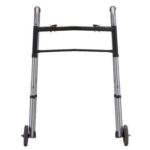 "Nova Medical Heavy Duty Bariatric 2-Button Walker with 5"" Wheels - Senior.com walkers"