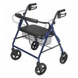 "Lumex Walkabout ConTour Imperial Bariatric Rollator with 20"" Seat & 8"" Wheels - Senior.com Rollators"