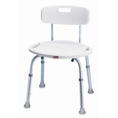 Carex Classics Bath & Shower Seat - Adjustable Height - Senior.com Bath Stool