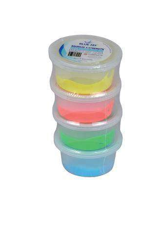 Blue Jay Squeeze 4 Strength Hand Therapy Putty - 4 Pack - Senior.com Hand Exercisers