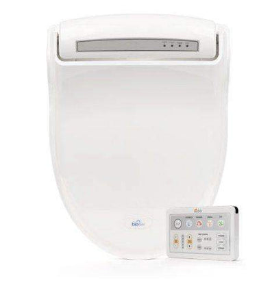 BioBidet Supreme White Bidet Toilet Seat with Adjustable Warm Water BB-1000