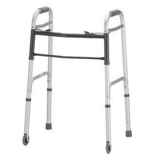 "Nova Medical Folding 2 Button Walker with 3"" Wheels - Senior.com walkers"