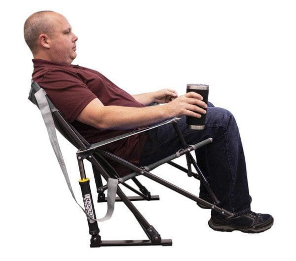 CGI Outdoor Kickback Rocker - Folding Portable Camping Rocking Chair - Senior.com Rocking Chairs