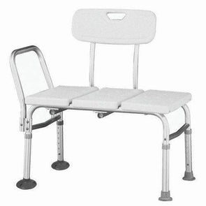 Roscoe Medical Adjustable Transfer Bench - White - Senior.com Transfer Equipment