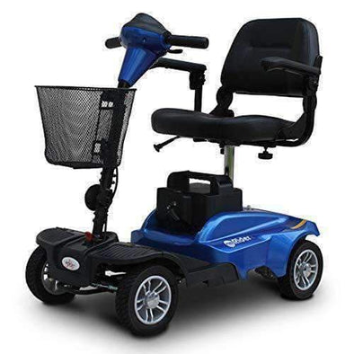 EV Rider MiniRider 4-Wheel Mid Size Travel Scooters – Red or Blue