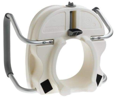 Carex E-Z Lock Raised Toilet Seat with Handles - 5 Inch Toilet Seat Riser with Arms - Open Box - Senior.com Raised Toilet Seats