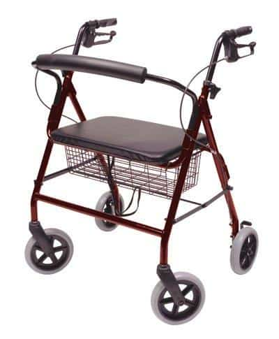 "Lumex Walkabout ConTour Imperial Bariatric Rollator with 20"" Seat & 8"" Wheels"