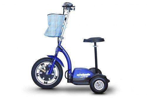 Ewheels Stand and Ride Electric Recreational Scooters – 3 Wheels EW 18 blue