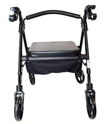 MOBB Healthcare Heavy Duty Bariatric Folding Rollator with Backrest - Senior.com Rollators