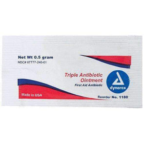 Dynarex Triple Antibiotic Ointment - 0.5 Gram Packets - Senior.com Skin Protection