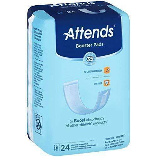 Attends Unisex Booster Pads Light Absorbency with Odor Shield Technology - Case of 192 - Senior.com Incontinence