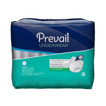 Prevail Maximum Absorbency Incontinence Underwear with Breathable Rapid Absorption Discreet Comfort Fit Adult Diapers