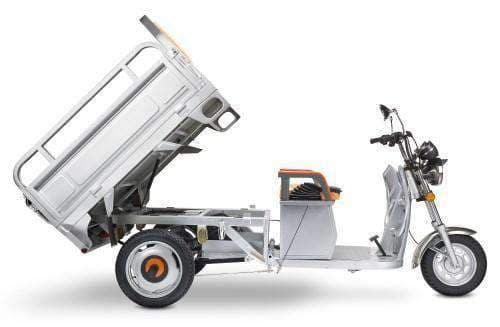 PET Electric Cargo Scooter Truck with Automatic Tail Bed Lifting – 3 Wheeled - Senior.com Scooters