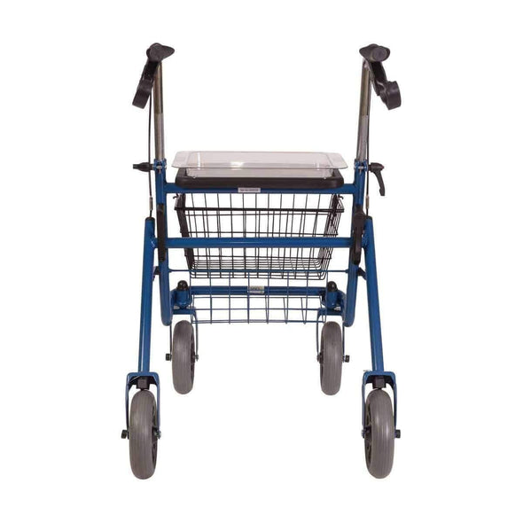DMI Classic Folding Steel Rollator with Padded Seat, Removable Basket and Storage Tray - Senior.com Rollators