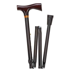 DMI Ladies Adjustable Folding Cane with Derby Handle - Senior.com Canes