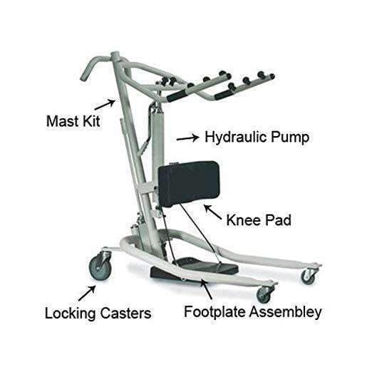 Invacare Get-U-Up Hydraulic Stand-Up Patient Lift - Senior.com Patient Lifts