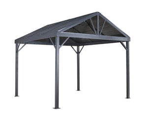 Sojag Sanibel I Hardtop Gazebo Outdoor Sun Shelter with Mosquito Netting - Senior.com Gazebo