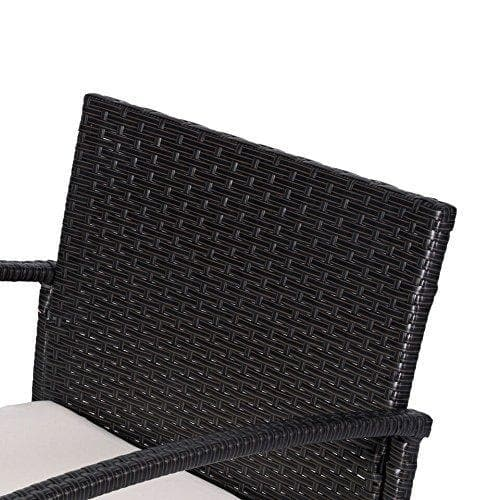 Vifah Cyrus 3-Piece Cushioned Compact Outdoor/Indoor Wicker Coffee Set - Senior.com Outdoor Furniture Sets