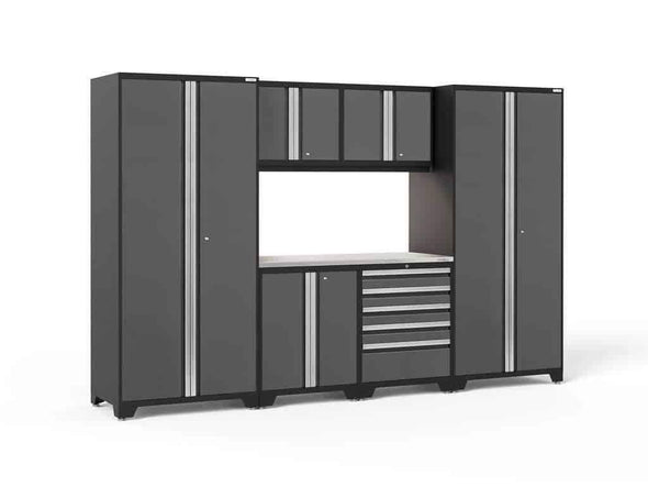 New Age Products Pro 3.0 Series Garage Storage Cabinet 7 Piece Sets - Senior.com Garage Cabinets