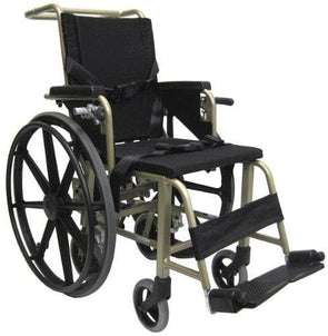 "Karman Healthcare Convertible Airplane Aisle Chair - Foot Operated 24"" Quick Release Rear Wheels - Senior.com Wheelchairs"