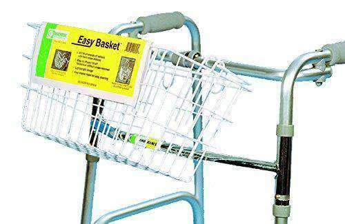 Essential Medical Supply Wire Basket with Tray for Folding Walkers - Senior.com Walker Parts & Accessories