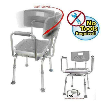 MOBB Healthcare 360 Degree Swivel Seat Shower Chair - Senior.com Bath Benches & Seats