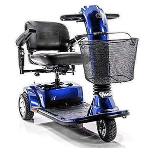 Golden Technologies 3 Wheel Companion Luxury Full Size Scooter - Blue - Senior.com Scooters