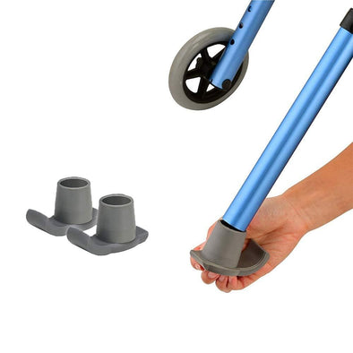 "Nova Medical Walker Ski Glides - 1 1/8"" Tube Shaft Diameter. - Senior.com Walker Parts & Accessories"