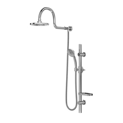 "Pulse ShowerSpas Aqua Rain Shower System with 8"" Rain Showerhead and 5-Function Hand Shower - Senior.com Shower Systems"