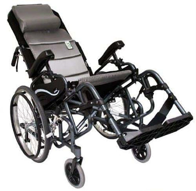 Karman Foldable Tilt in Space Wheelchairs - Diamond Black with 20 Inches Rear Wheels