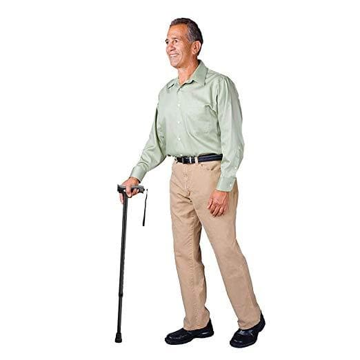 Carex Derby Style Soft Grip Walking Canes - Height Adjustable With Wrist Strap - Senior.com Canes