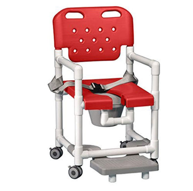 IPU Elite PVC Shower Chair Commode with Footrest and Safety Belt - Senior.com PVC Shower Chairs