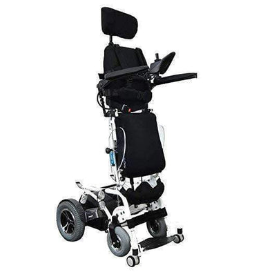 Foldawheel Phoenix II Electric Standing Power Wheelchair with Recline and 18.5 Mile Range - Senior.com Power Chairs