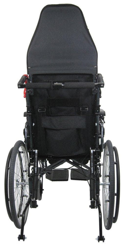 Karman Healthcare Ergonomic V-Seat Reclining Wheelchair, Diamond Black - Senior.com Wheelchairs