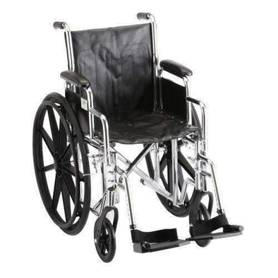 Nova Medical Steel Standard Extra Wide Wheelchairs - 22 In Wide - Senior.com Wheelchairs