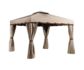 Sojag Roma Hardtop Gazebo Outdoor Sun Shelter with Full Enclosure - Senior.com Gazebo