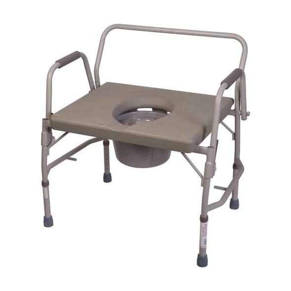 DMI Extra-Wide Bariatric Bedside Commode - Senior.com Commodes