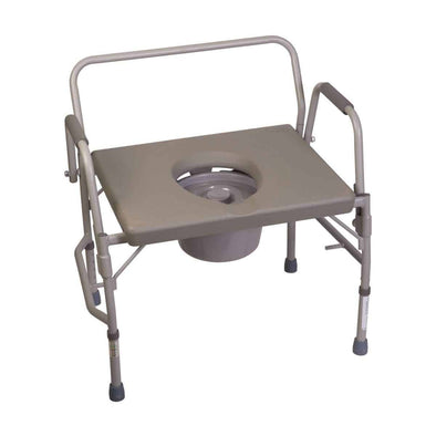DMI Bedside Heavy Duty Steel Bariatric Commode Chair - 500 lb Capacity
