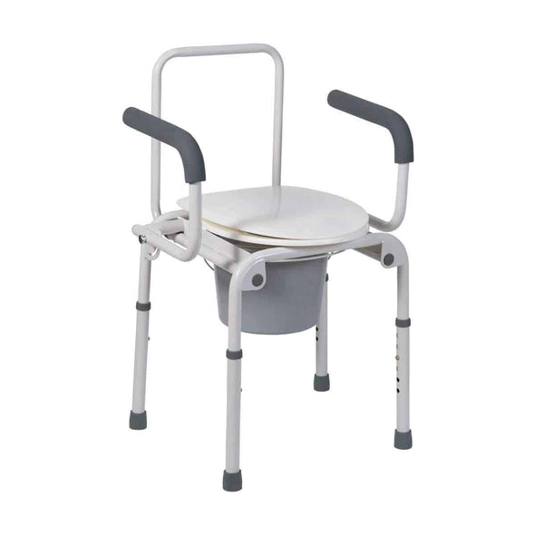 DMI Steel Drop-Arm Portable Bedside Commode - Senior.com Commodes