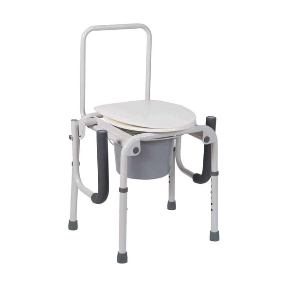 DMI Steel Drop-Arm Portable Bedside Commode 520-1213-1900