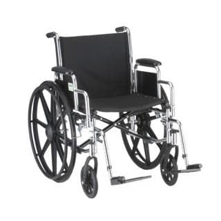 Nova Medical Steel Wheelchair w/ Detachable Desk Arms - Senior.com Wheelchairs