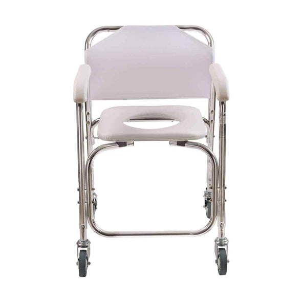 DMI Rolling Shower Padded Transport Chair with Commode Opening - Senior.com Commodes