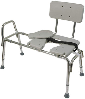 DMI® Sliding Bariatric Transfer Shower Bench with Cut-Out Seat - Senior.com Shower Benches
