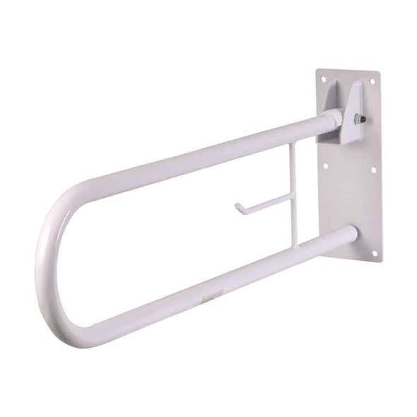 HealthSmart Fold Away Grab Bar Shower Safety Handrail - Senior.com Grab Bars & Safety Rails