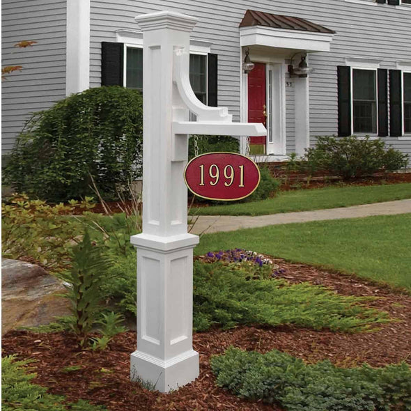 Mayne Woodhaven Address Sign Post - New England Styled - Senior.com Address Posts