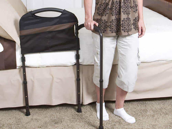 Stander Mobility Home Adult Bed Rail & Cushioned Support Bed Swivel Handle - Senior.com Bed Rails
